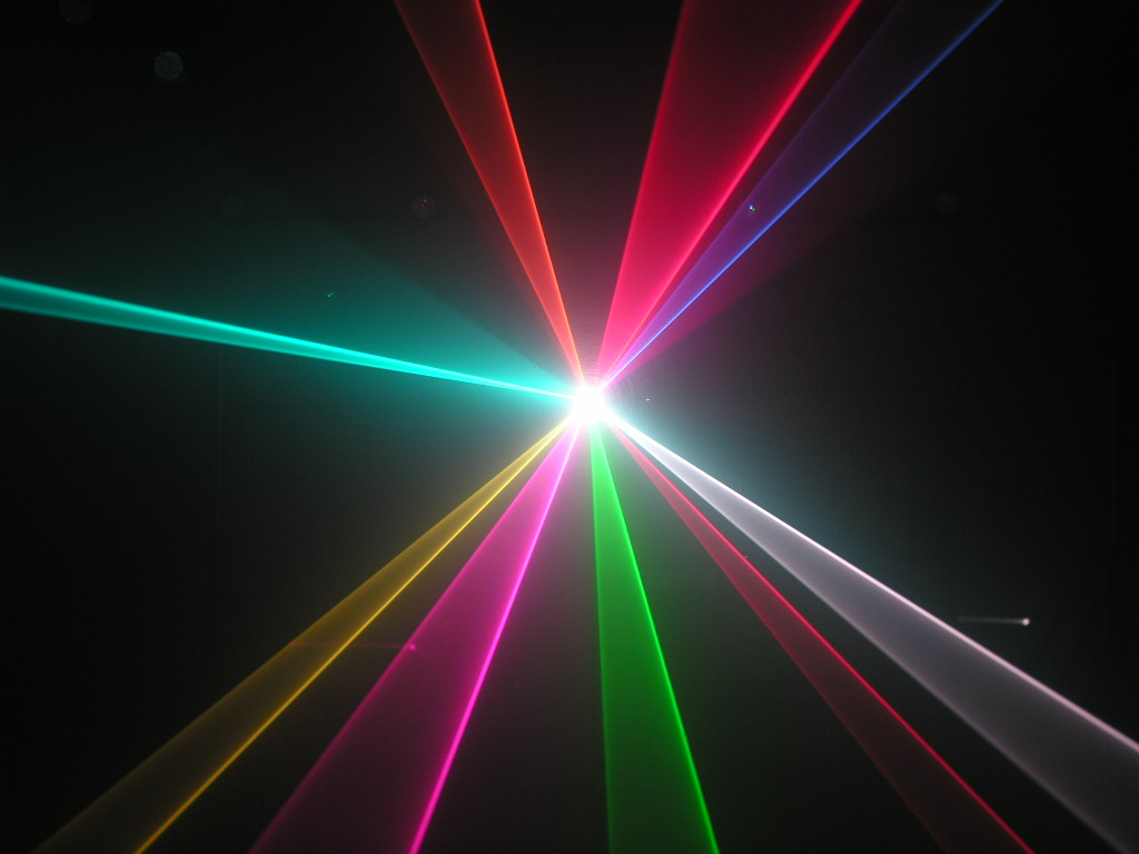 HIệu ứng quét tia đèn laser 1 cửa 7 mầu