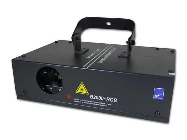 Mặt trước đèn laser 1 cửa 7 mầu B2000 RGB