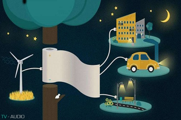 Lưu trữ năng lượng điện bằng giấy đặc biệt