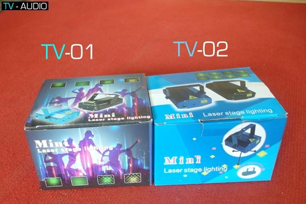 Cách nhận biết và phân biệt đèn laser mini TV01 và TV02.