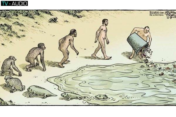 Chiêm ngưỡng hình ảnh hài hước mô tả sự tiến hóa của con người qua thời gian.